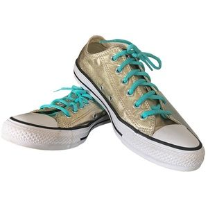 Converse All-Star OX Metallic Gold Sneakers